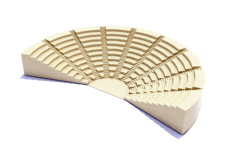 3d parliament, flight of steps, seat and stage