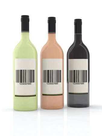 three bottle of wine 3d illustration illustration