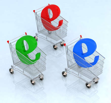shopping cart, representation of e-commerce Stock Photo - 9221704