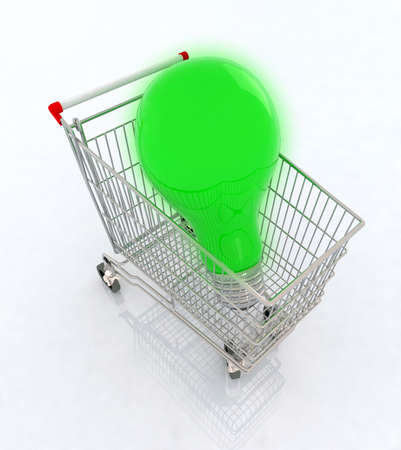 big green bulb, concept of a company that sells green energy Stock Photo - 9221710