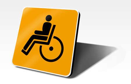 handicap orange traffic sign Stock Photo - 9222600