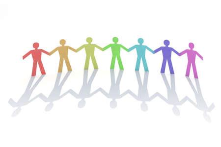 colored paper chain 3d illustration illustration