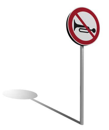 交通標識ホルン 3 d イラスト