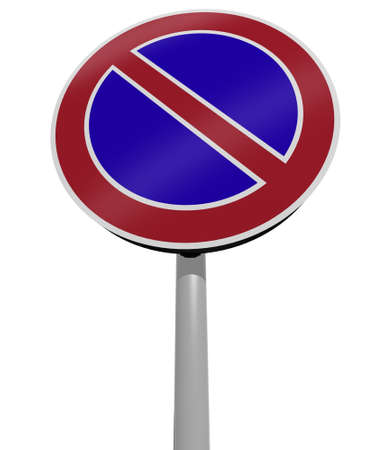 no parking traffic sign, 3d illustration illustration