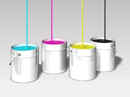 cmyk colors bin 3d illustration illustration