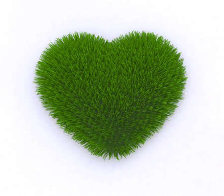heart of grass 3d illustration illustration