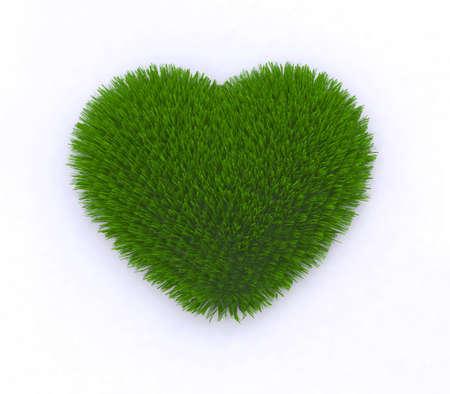 heart of grass 3d illustration illustration