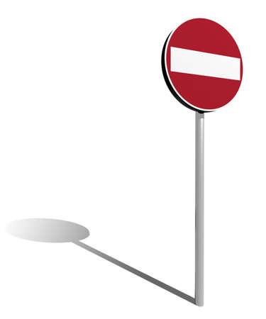 Do not enter traffic sign isolated 3d illustration Stock Illustration - 9320705
