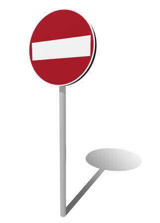 Do not enter traffic sign isolated 3d illustration illustration