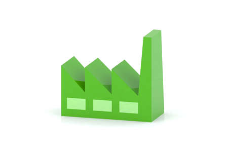 green factory 3d icon  photo