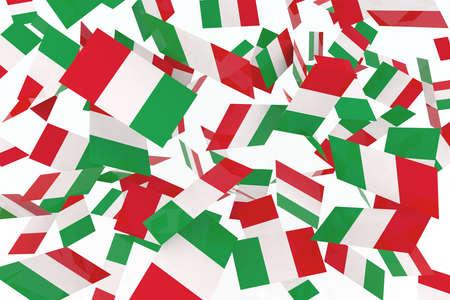 Italian flags in the air 3d illustration illustration