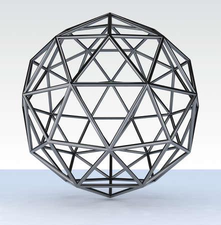 chromed: 3d geosphere chromed