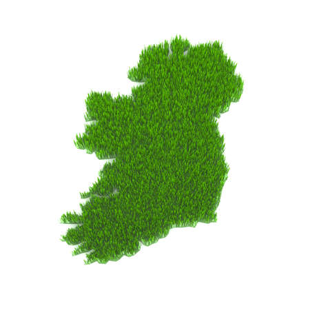 northern ireland: ireland map made of green grass Stock Photo