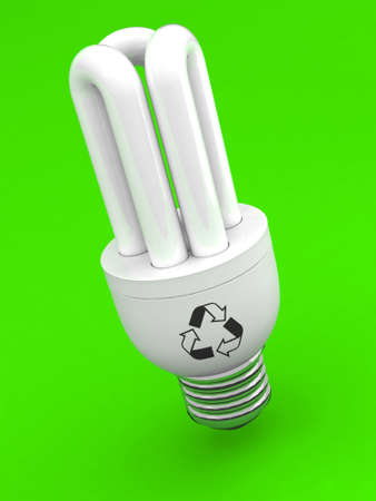 luminescent light bulb 3d illustration Stock Illustration - 9411307