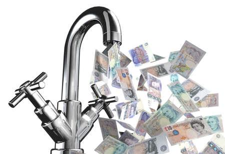 英語紙幣 3 d イラスト水道水