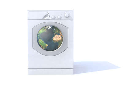 biodegradable: washing machine that cleans the world Stock Photo