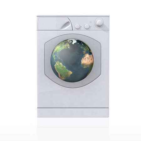 washing machine that cleans the world Stock Photo - 9411348