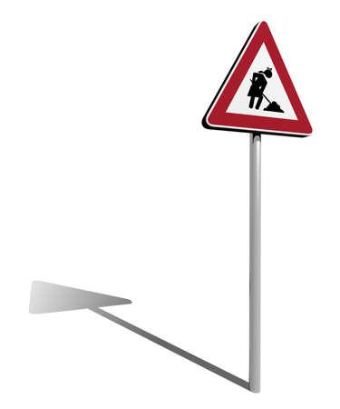 independance: traffic sign woman work in progress 3d illustration