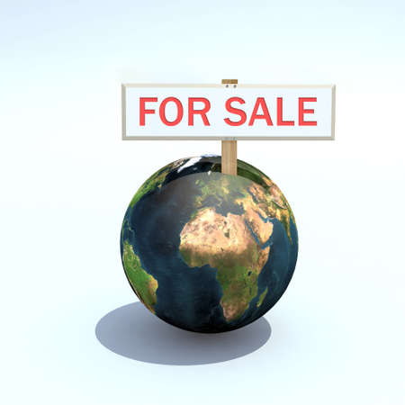 petition: the world for sale 3d illustration