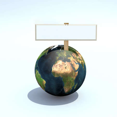 petition: the world for sale 3d illustration, with empty folders