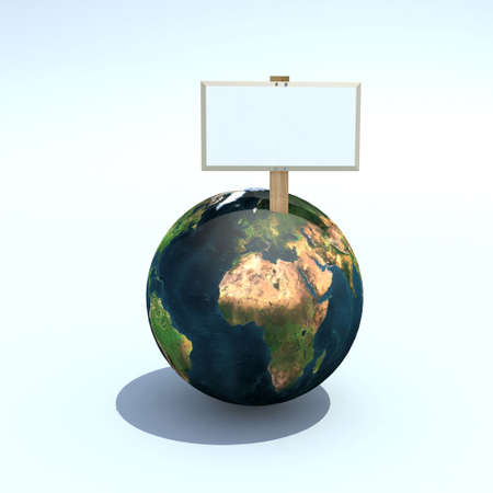 petition: the world for sale 3d illustration, with empty folders, africa and europe