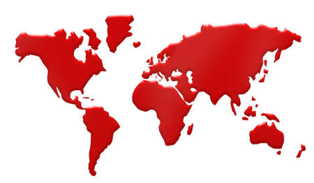 map wine: world map with blood 3d illustration