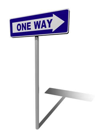 traffic sign one way direction 3d illustration Stock Illustration - 9460104