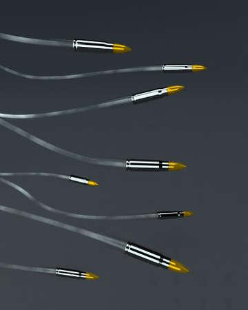 bullets in the air 3d illustration illustration