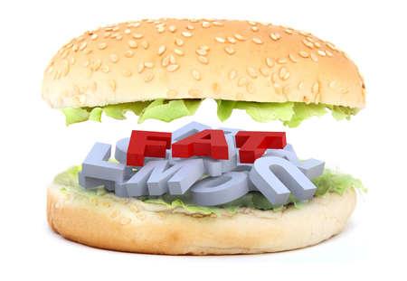 the big burger fat Stock Photo - 9460174