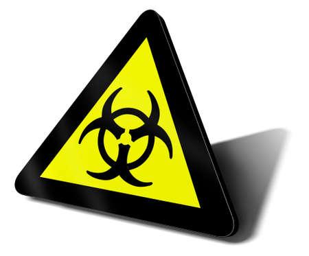 warning sign bio hazard danger illustration illustration