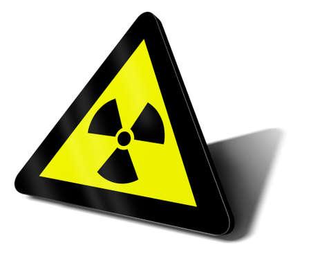 warning sign nuclear danger illustration illustration