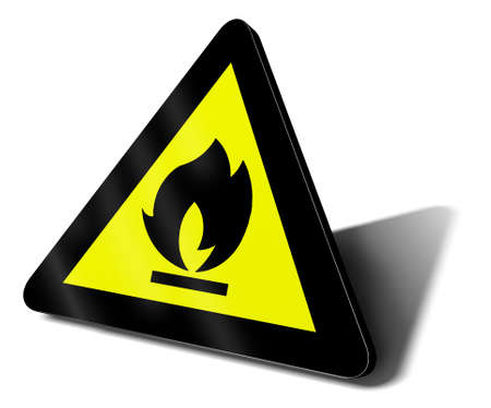 warning sign fire illustration Stock Illustration - 9460121
