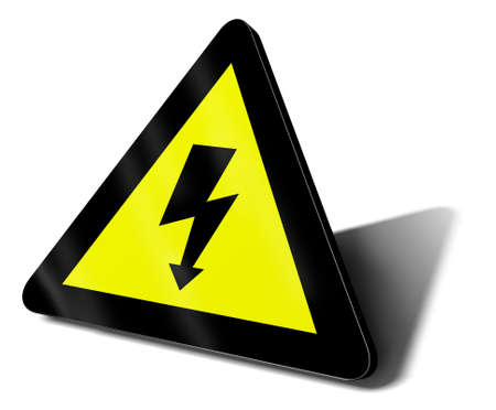 warning sign electric danger illustration Stock Illustration - 9460120