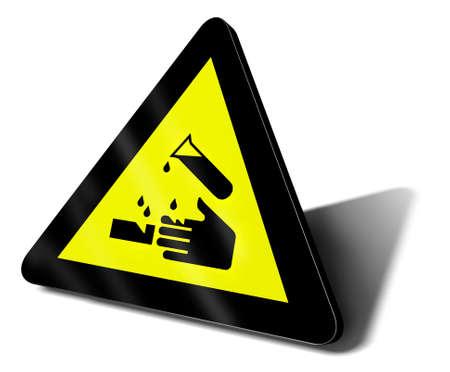 warning sign acid danger illustration illustration