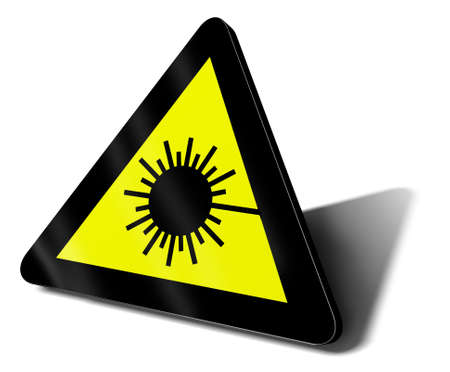 warning sign laser ray danger illustration Stock Illustration - 9460133
