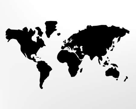 the black world oil, 3d illustration pollution concept illustration