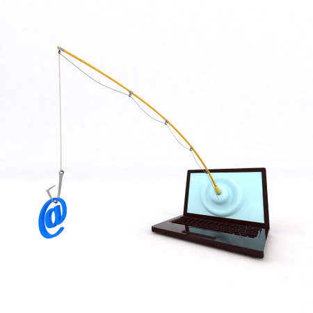 email security: concept phishing 3d illustration