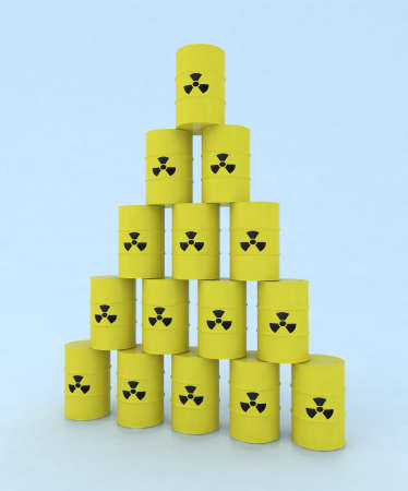 nuclear bins 3d illustration Stock Illustration - 9516950