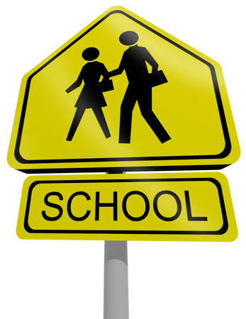 traffic sign school 3d illustration illustration