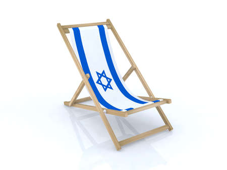 wood desk chair with israel flag 3d illustration Stock Illustration - 9516942