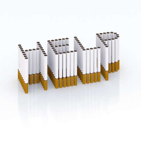 Written help with cigarettes 3d illustration illustration