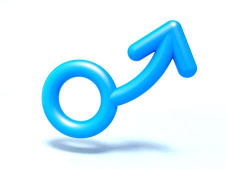 male symbol 3d illustration Stock Illustration - 9516932