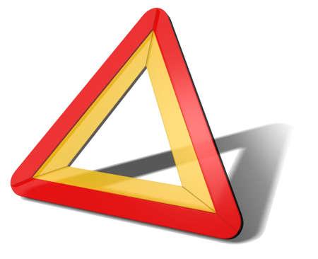 traffic triangle 3d illustration illustration
