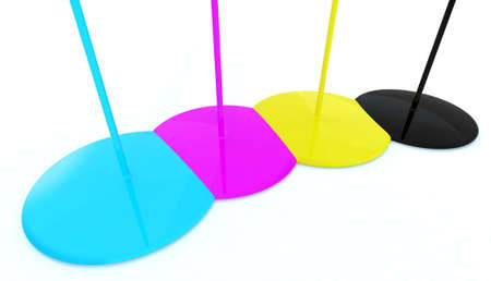 cyan magenta yellow black decoration drop Stock Photo - 9517069