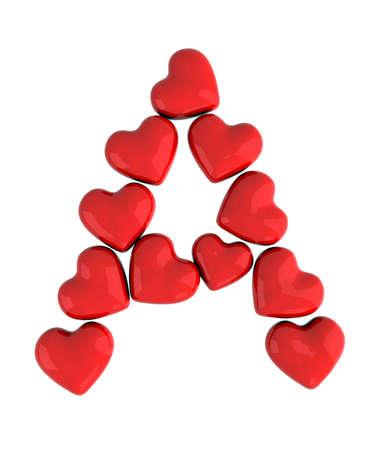 Carta de un corazón rojo