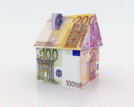 house illustration: euro house illustration