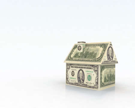 house illustration: dollar house illustration