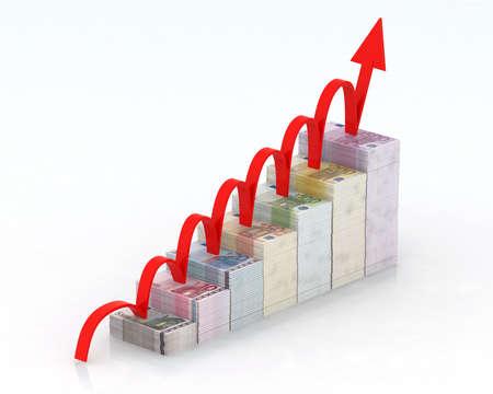 remuneraci�n: flecha roja que sale en los billetes de euro