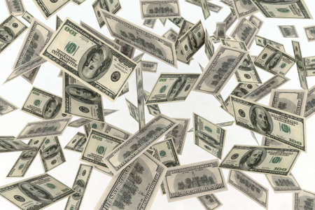 falling banknotes dollar  photo