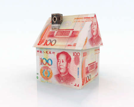 home made: home made of 100 yuan 3d illustration Stock Photo